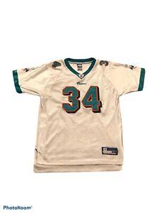 Vintage VTG Reebok NFL Miami Dolphins Ricky Williams Youth Kids XL Jersey Small