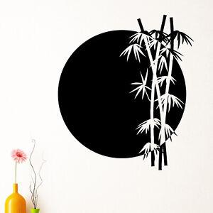 Bamboo Rising Sun Japanese Chinese Wall Sticker Decal Transfer Matt Vinyl UK