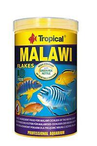 Aquarium TROPICAL MALAWI MBUNA CICHLID FISH FOOD FLAKE With ALGAE SPIRULINA