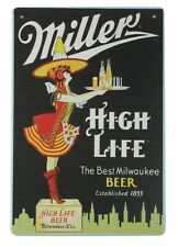 wall art in home Miller high life Milwaukee beer bar pub metal sign