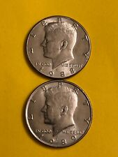 KENNEDY 1988D 1989D CIRCULATED FREE SHIPPING