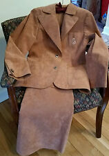 Vintage Ultra Suede Skirt Suit Us size 8