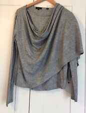TED BAKER GREY CARDIGAN SIZE 2 VGC