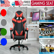 Game Chair Office Home Racing Style Computer Swivel Desk Pu Leather Massage Seat