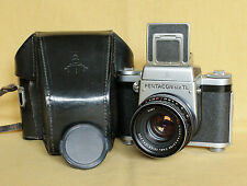 Pentacon Six TL MC medium format German camera Zeiss Biometar 80/2.8 CLA