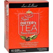 Laci Le Beau Super Dieter's Tea All Natural Botanicals - 60 Tea Bags (150 g) New