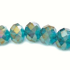 FACETTIERTE GLASPERLEN 10x8mm RONDELLE indigolith blau 72 Perlen nenad-design