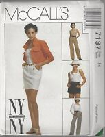 McCalls Sewing Pattern # 7137 Misses Jacket Top Skirt Pants Shorts Choose Size