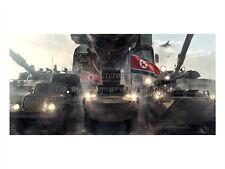 "North KOREA Anti-American Propaganda Poster Print VEHICLES, FLAGS 18x24"" #NK030"