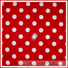 BonEful Fabric Cotton Quilt Red White Dot MINNIE Mouse Disney Girl Dress L SCRAP