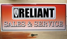 RELIANT SALES & SERVICE large Workshop Garage Sign Sticker Scimitar GTE Robin