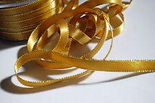 **GOLD -  FESTIVE EDGE RIBBON - 10mm Wide **
