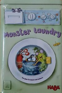 HABA Monster Laundry Board Game Kids Tin Grabbing Cards Ages 7+