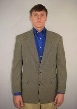 Men's Brooks Brothers Black Ivory Checkered Wool Sport Coat Blazer Jacket 39 R