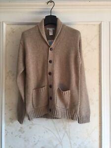 NWT Janie And Ack Boys Shawl Collar Cardigan Sweater 12 Almond
