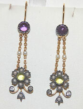 9 Carat Amethyst Sterling Silver Fine Earrings