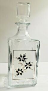 Vintage Liquor Decanter Decover Made In Italy Glass Decanter With Lid Stopper