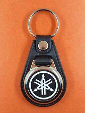 Porte Clés Luxe Rond. Logo Yamaha Noir(réf PCLRo)
