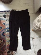 Eileen Fisher Black Crease Look Trousers Size S