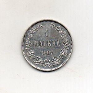 FINLAND 1 Markka 1907 Silver .868