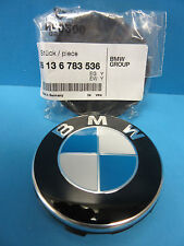 "1 Genuine Wheel Center Cap W. Emblem BMW OEM# 36136783536 67 mm 2.7"" Push-On DIY"