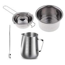 4 Set Stainless Steel Double Boiler Long Handle Wax Melting Pot Pitcher Q2e7