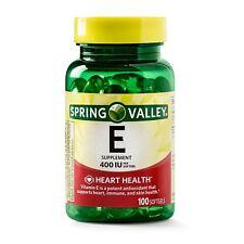 New Spring Valley Vitamin E Supplement, 400IU 100 Softgel Capsules