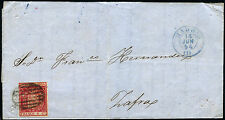 ESPAÑA CARTA IMPRESO COMERCIAL 24 MADRID A ZAFRA 14 JUNIO 1854