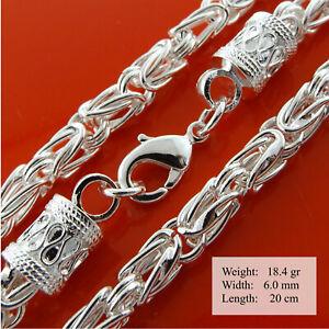 Bracelet 925 Sterling Silver Filled Solid Ladies Real Antique Link Bangle 20cm