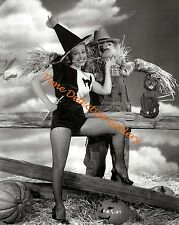 Gale Robbins Halloween Pin-up Girl 1945 - Vintage Photo Print