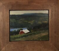 "original oil painting signed framed 8x10 ""Oh Bully Hill"" Keuka lake"