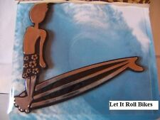 CAR EMBLEM LONGBOARD GUY CAR TRUCK MOTORCYCLE HOME DECOR NEW MADE IN THE U.S.A !
