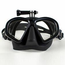 Freediving Mask w/ Gopro Mount - Tempered Glass - Premium Silicon Seal