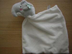 BOOTS MINI CLUB GREY ELEPHANT CREAM COMFORTER SOFT TOY