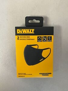 DeWalt DXPE2502142 Breathable Face Mask, 2 Pair, Black