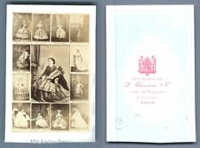 Adelina Patti mosaique vintage carte de visite, CDV,  CDV, tirage albuminé, 6