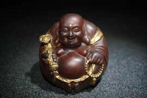 Chinese Natural Boxwood Handmade Exquisite Statue 12661