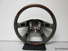 2003-2006 CADILLAC ESCALADE STEERING WHEEL W/O CONTROLS WOODGRAIN NORMAL WEAR