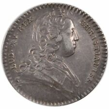 [#58108] France, Royal, Token, 1727, Au(55-58), Silver, Feuardent #790, 7.20
