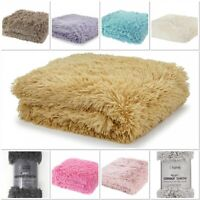 Catherine Lansfield Cuddly Shaggy Pile Soft Faux Fur Warm Throw 9 colours
