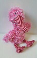 Jellycat Belissima Bird Soft Toy Plush Comforter Retired 2010 Pink Stripe Rare