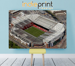 MANCHESTER UNITED OLD TRAFFORD WALL CANVAS   38MM WOOD FRAME   LARGE SIZES