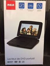 BRAND NEW RCA DRC96090 9-in Portable DVD Player with Rechargeable battery Black