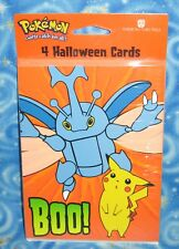 New Old Stock Pokemon Halloween Cards from 2001 Pikachu and Heracross USA Seller