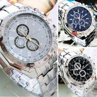Men's Fashion Luxury Watch Stainless Steel Analog Quartz Sport /Women Wristwatch