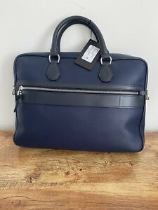 Alfred Dunhill Boston Single Document/Laptop Case Ink BNWT RRP £1395
