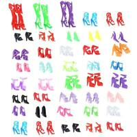 40 Pairs Doll Shoes Fashion Cute Colorful Assorted Shoes for Barbie Doll Gift UK