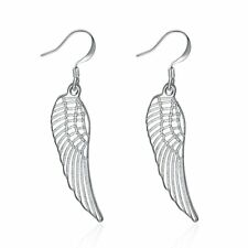 Angel Wing Dangle Hook Silver Plated Earrings Ginger Lyne Collection