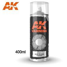 AK Interactive Semi-Gloss Varnish Spray 400ML - New