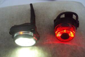 Lezyne Zecto drive 250 front usb front bike light 7 modes & usb rear bike light